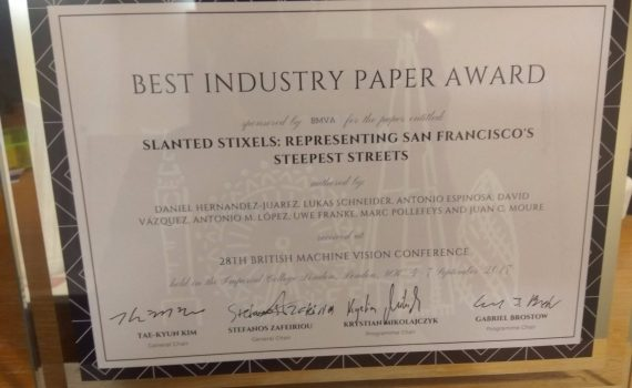 Best industrial paper award at BMVC2017 – SYNTHIA Dataset